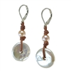 Fine Pearls and Leather Jewelry by Designer Wendy Mignot Dreamcatcher with Multicolor Accent