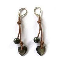 Amour Heart Cherries Earrings by designer Wendy Mignot