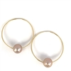 Florence Pearl Endless Hoop Gold-Filled Earrings Blush by Designer Wendy Mignot