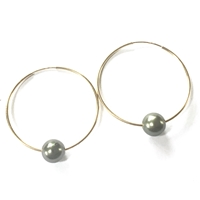 Florence Tahitian Pearl Endless Hoop Gold-Filled Earrings by Wendy Mignot