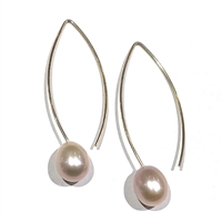 Liv V Wire Pearl Drop Earring 14k Gold-Filled-Blush