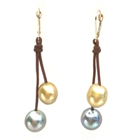 Fine Pearls and Leather Jewelry by Designer Wendy Mignot