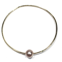 Mahalo Freshwater Pearl 14k Gold Filled Bangle Blush by Wendy Mignot