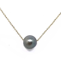 Kapalua Single Tahitian Pearl 14k Gold Necklace