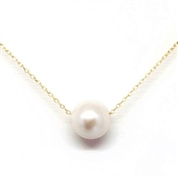Aloha Single Freshwater Pearl GF Necklace-White