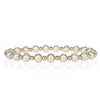 Fine Pearls and Leather Jewelry by Designer Wendy Mignot Miami Miami Perla Bracelet