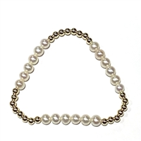 Fine Pearls and Leather Jewelry by Designer Wendy Mignot Miami Miami Playa Bracelet