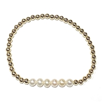 Fine Pearls and Leather Jewelry by Designer Wendy Mignot Miami Miami del Sol Bracelet