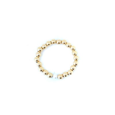 Fine Pearls and Leather Jewelry by Designer Wendy Mignot Miami Gold and Single Pearl Ring