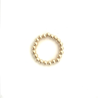 Fine Pearls and Leather Jewelry by Designer Wendy Mignot Miami Gold Stack Ring
