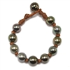 Fine Pearls and Leather Jewelry by Designer Wendy Mignot All Over the World Tahitian Bracelet