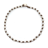 Fine Pearls and Leather Jewelry by Designer Wendy Mignot Small World Freshwater Necklace