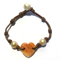 Seychelles Amour Freshwater Pearl Bracelet by Wendy Mignot
