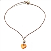 Amour Atlantic Lions Paw Shell Heart Necklace