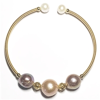 Renoir 3 Pearl Bangle - Blush