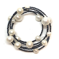 Cabaret Spinel and Pearl Bracelet, White |  Wendy Mignot