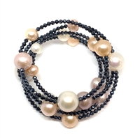 Cabaret Spinel and Pearl Bracelet, Multicolor |  Wendy Mignot