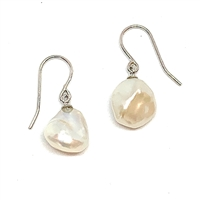 Brigitte Baroque Pearl Earrings White