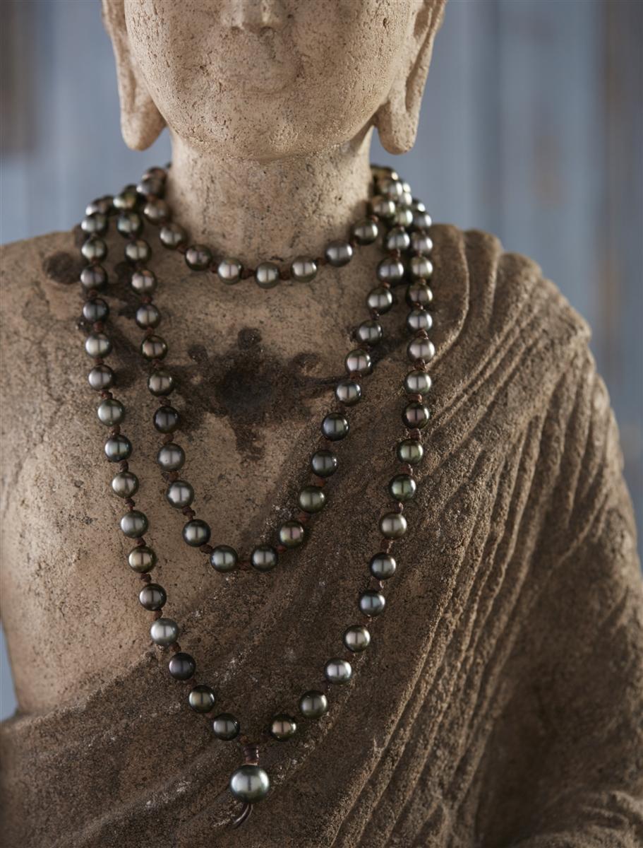 Wendy Mignot Japa Mala Tahitian Necklace