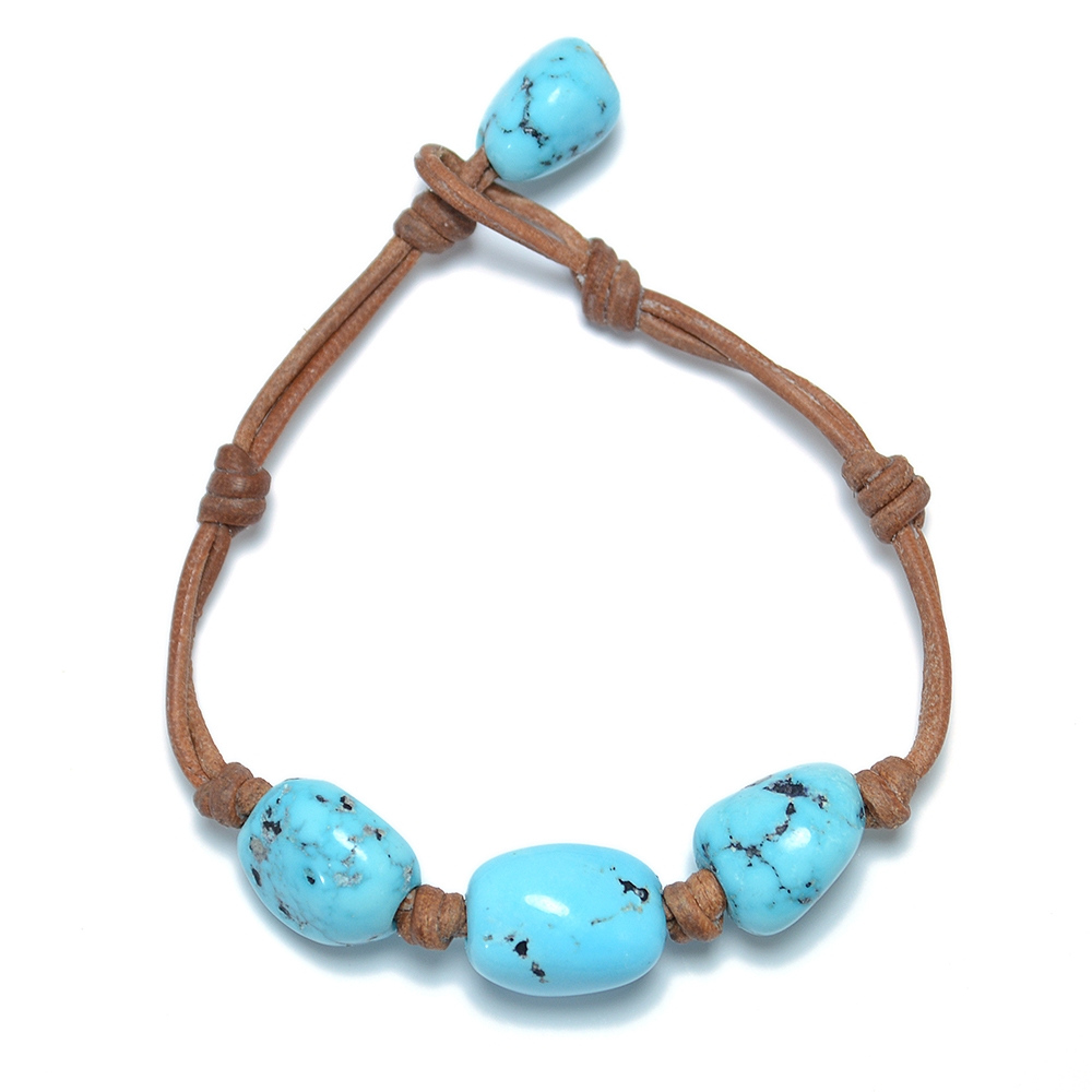 Wendy Mignot Limited Edition Turquoise Three Gem Bracelet