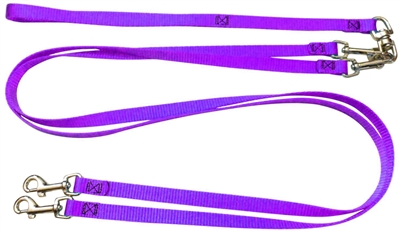 Pet Walker Plus No Tangle Leash for 2 Dogs - Small / Purple