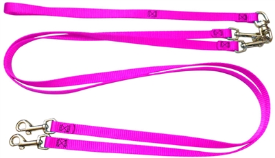 Pet Walker Plus No Tangle Leash for 2 Dogs - Small / Hot Pink