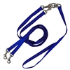 Pet Walker Plus No Tangle Leash for 2 Dogs - Medium / Blue