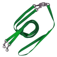 Pet Walker Plus No Tangle Leash for 2 Dogs - Medium / Green