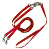 Pet Walker Plus No Tangle Leash for 2 Dogs - Medium / Red