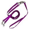 Pet Walker Plus No Tangle Leash for 2 Dogs - Medium / Purple