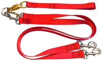Pet Walker Plus No Tangle Leash for 2 Dogs - Large / Red
