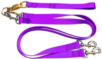 Pet Walker Plus No Tangle Leash for 2 Dogs - Large / Purple