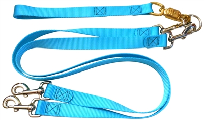 Pet Walker Plus No Tangle Leash for 2 Dogs - Large / Tourquoise