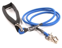 Bun-Gee Pup-EE Single Walker Dog Leash - Small / Blue 6 Foot