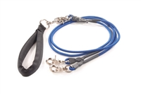 Bun-Gee Pup-EE Double Walker Dog Leash - Small / Blue