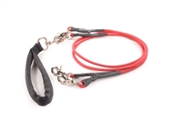 Bun-Gee Pup-EE Double Walker Dog Leash - Small / Red