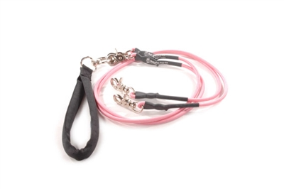 Bun-Gee Pup-EE Double Walker Dog Leash - Small / Pink