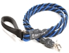 Bun-Gee Pup-EE Single Walker Dog Leash - X-Large / Blue/Black 6 Foot