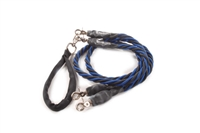 Bun-Gee Pup-EE Double Walker Dog Leash - X-Large / Blue/Black