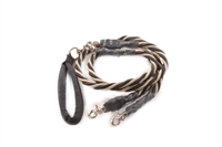 Bun-Gee Pup-EE Double Walker Dog Leash - X-Large / Gold/Black