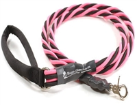 Bun-Gee Pup-EE Single Walker Dog Leash -  X-Large / Pink/Black 6 Foot