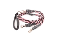 Bun-Gee Pup-EE Double Walker Dog Leash - X-Large / Pink/Black