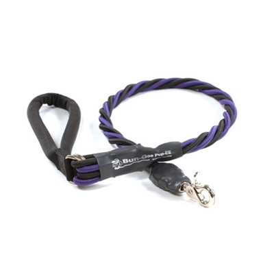 Bun-Gee Pup-EE Single Walker Dog Leash - X-Large / Purple/Black 3 Foot