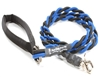 Bun-Gee Pup-EE Single Walker Dog Leash - Medium / Blue/Black 6 Foot
