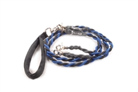 Bun-Gee Pup-EE Double Walker Dog Leash - Medium / Blue/Black