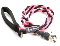 Bun-Gee Pup-EE Single Walker Dog Leash - Medium/Pink/Black 6 Foot