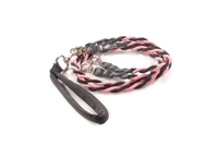Bun-Gee Pup-EE Double Walker Dog Leash - Medium / Pink/Black