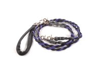 Bun-Gee Pup-EE Double Walker Dog Leash - Medium / Purple/Black
