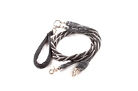 Bun-Gee Pup-EE Double Walker Dog Leash - Medium / Grey/Black