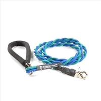Bun-Gee Pup-EE Single Walker Dog Leash - Medium / Teal/Blue 6 Foot